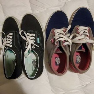 Lot of 2 pair of Vans size 9